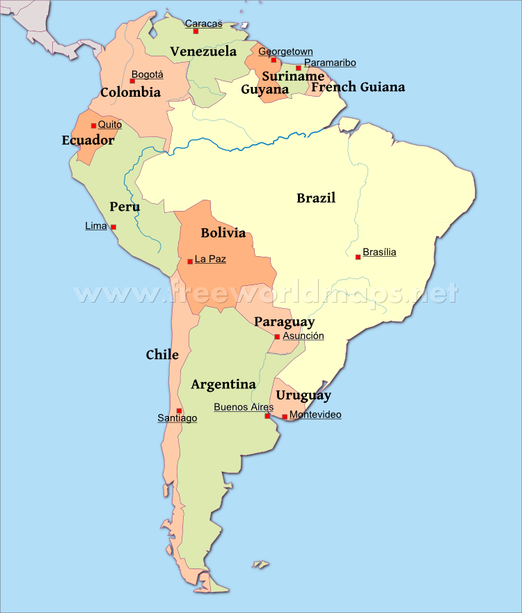 southamerica-political-map