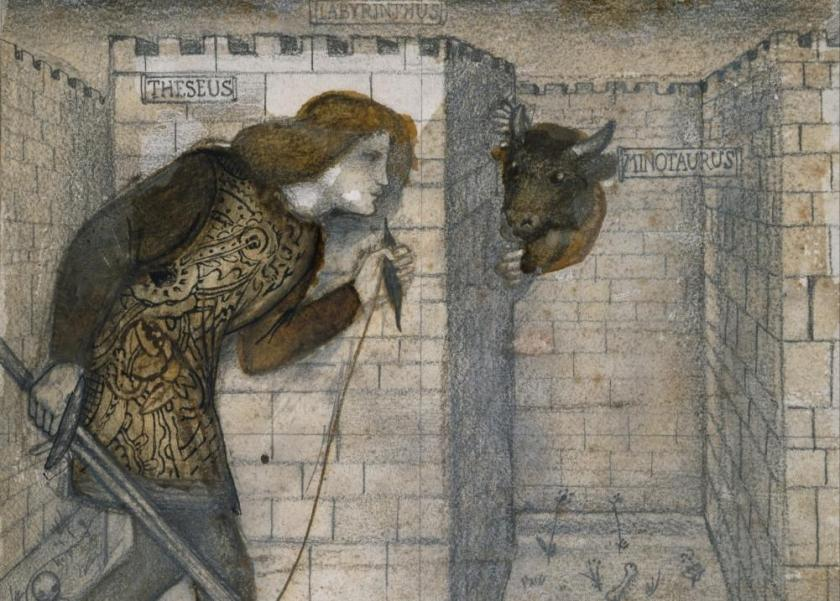 Theseus_and_the_Minotaur_in_the_Labyrinth_detail_c1861